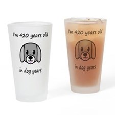 60 dog years 2 Drinking Glass