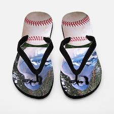 Bluejay Baseball Flip Flops