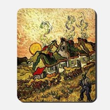 Van Gogh - Thatched Cottages in the Suns Mousepad
