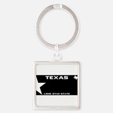 TX - Lone star - BLACK blank license pla Keychains