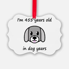 65 dog years 2 - 2 Ornament