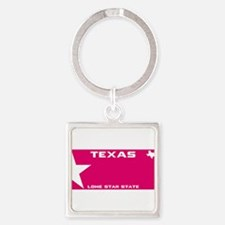 Texas - Lone star - PINK blank plate des Keychains