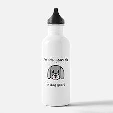 70 dog years 2 Water Bottle
