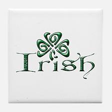 Irish: Celtic Shamrock' Tile Coaster
