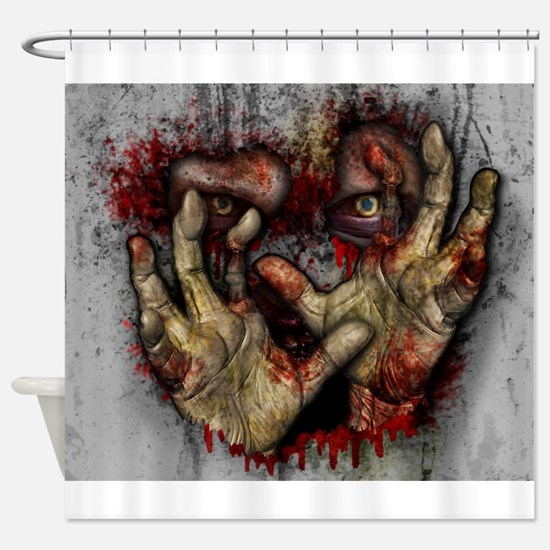 Cute Zombie Shower Curtain