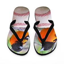 Oriole Baseball Flip Flops