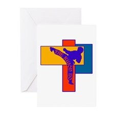 TKD Power Kick Greeting Cards (Pk of 10)
