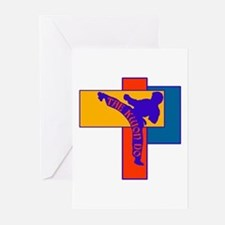 TKD Power Kick Greeting Cards (Pk of 10)