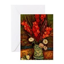 Van Gogh - Vase with Red Gladiolas Greeting Card