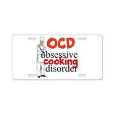 Cooking Disorder Aluminum License Plate