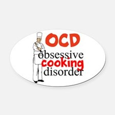 Cooking Disorder Oval Car Magnet