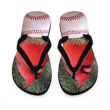 Cardinal Baseball Flip Flops