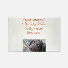 Cute Curly coated retriever Rectangle Magnet