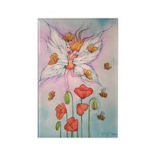 Poppy Fairy Rectangle Magnet
