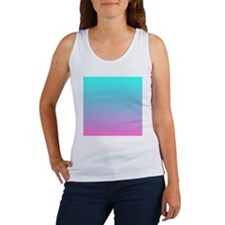 pink turquoise ombre Women's Tank Top