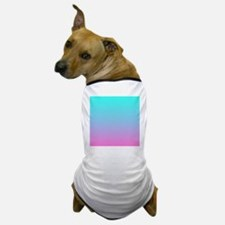 pink turquoise ombre Dog T-Shirt