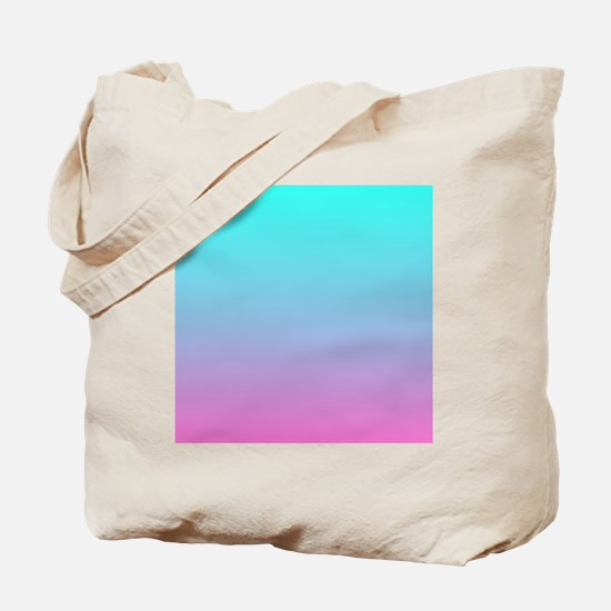 pink turquoise ombre Tote Bag