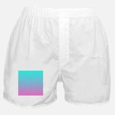 pink turquoise ombre Boxer Shorts