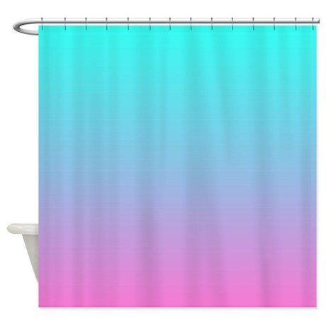 Pink Turquoise Ombre Shower Curtain By Admin Cp62325139