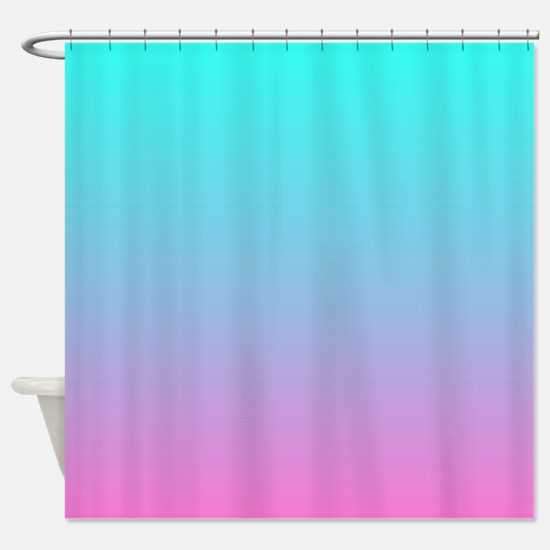 pink turquoise ombre Shower Curtain