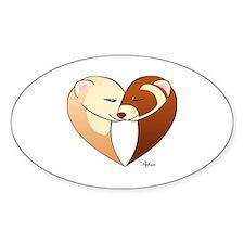 Ferret Heart Decal
