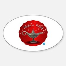 The wish Sticker (Oval)
