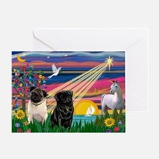 Pug Magical Night Greeting Card