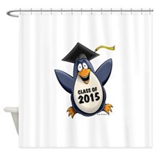 Class of 2015 Penguin Shower Curtain