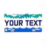 British columbia License Plates