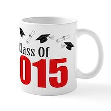 Class Of 2015 (Red Caps And Diplomas) Small Small Mug
