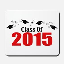 Class Of 2015 (Red Caps And Diplomas) Mousepad
