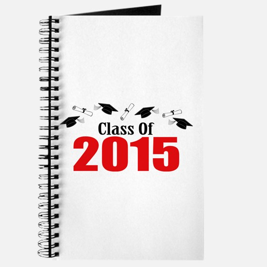 Class Of 2015 (Red Caps And Diplomas) Journal