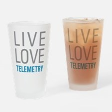 Live Love Telemetry Drinking Glass