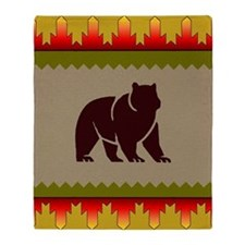 Woodland Bear Throw Blanket