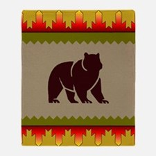 Woodland Bear Throw Blanket