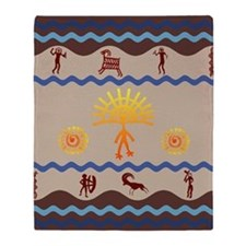 Spirit Path Rock Art Throw Blanket