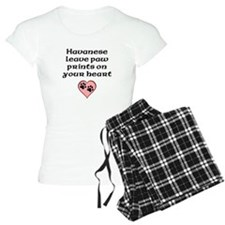 Havanese Leave Paw Prints On Your Heart Pajamas
