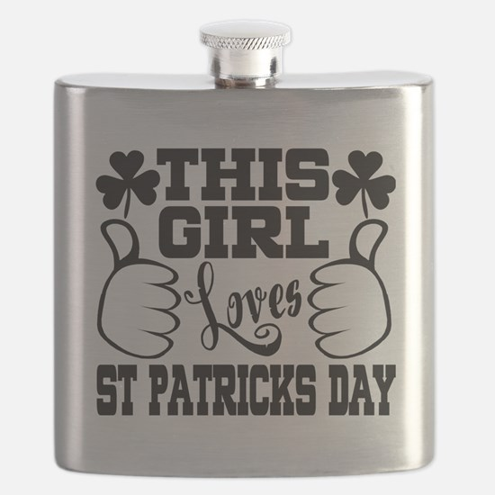 This Girl LOVES St. Patrick's Day Flask