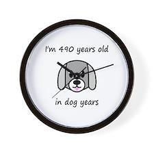 70 dog years 2 - 2 Wall Clock