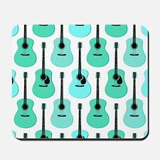 Blue Acoustic Guitars Pattern Mousepad