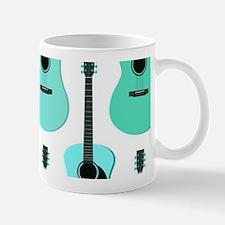 Blue Acoustic Guitars Pattern Mug