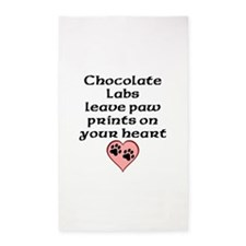 Chocolate Labs Leave Paw Prints On Your Heart Area