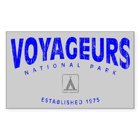 Voyageurs National Park (Arch) Sticker (Rectangula