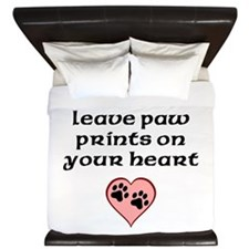 Black Labs Leave Paw Prints On Your Heart King Duv