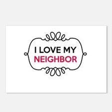 I Love My Neighbor Postcards (Package of 8)