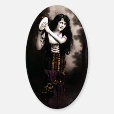 Gypsy Vintage Photo Sticker (Oval)