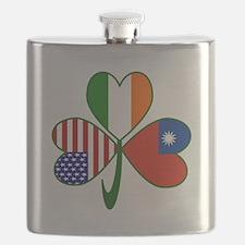 Shamrock of Taiwan China Flask