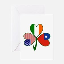 Shamrock of Taiwan China Greeting Card