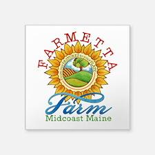 """Farmetta Farm Logo Square Sticker 3"""" X 3&quot"""