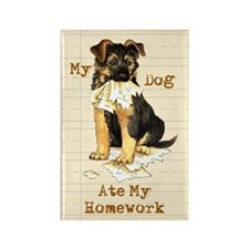 GSD Ate Homework Rectangle Magnet